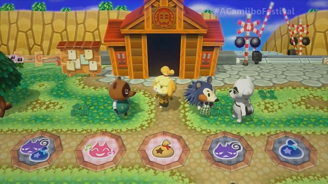 Animal Crossing Amiibo Party GAMEPLAY TRAILER (Wii U, E3 ...