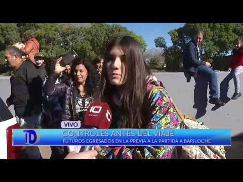 Algunos estudiantes partieron hoy con destino a Bariloche. Allí estuvo el equipo de Telediario y presenció los controles de rutina previos al viaje.