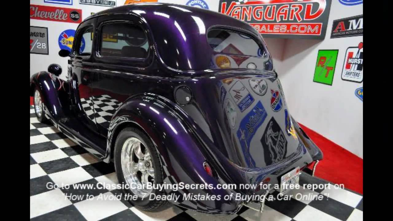 1935 ford slantback street rod classic muscle car for sale in mi vanguard motor sales youtube Ford motor auto sales