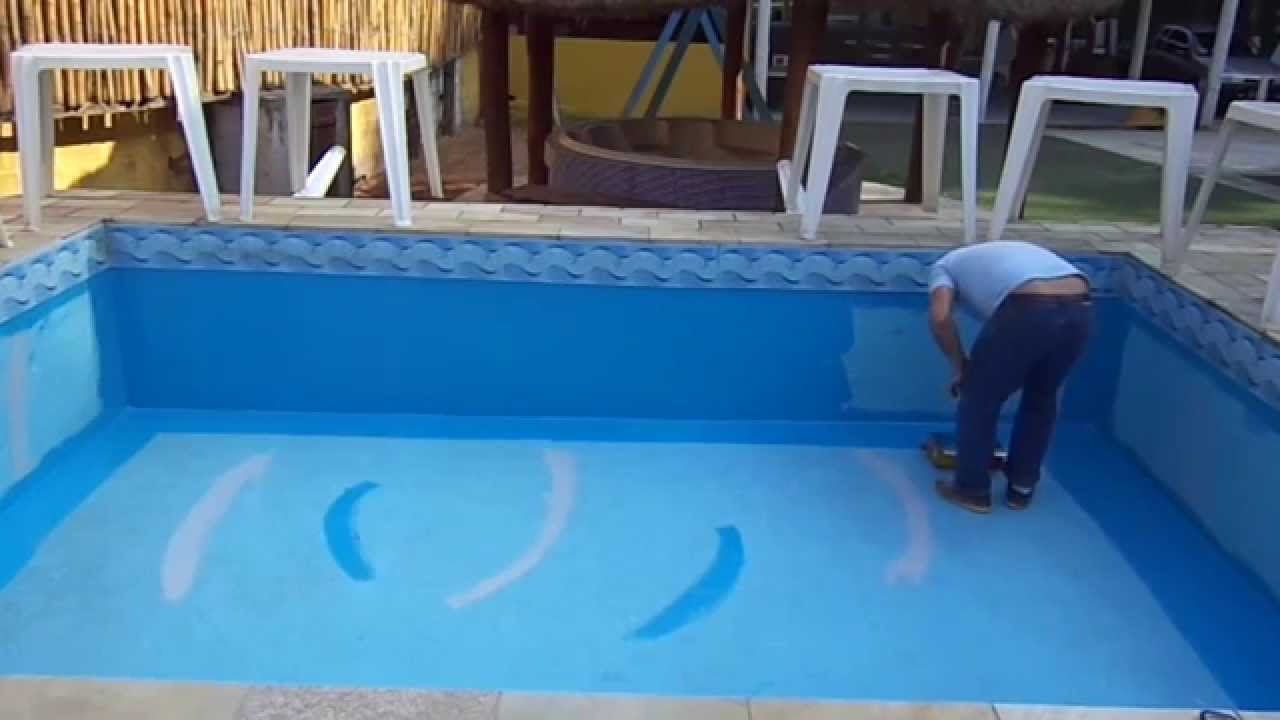 Pintura de piscina de fibra area toda em 6 minutos youtube for Piscinas de 3 metros