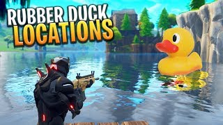 ALL *SECRET* RUBBER DUCKY CHALLENGE LOCATIONS! - Fortnite: Battle Royale