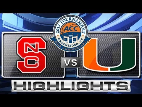 NC State vs Miami Highlights: ACC Men