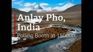 Highest polling station in the world, that is in ladakh ANLAY PHU
