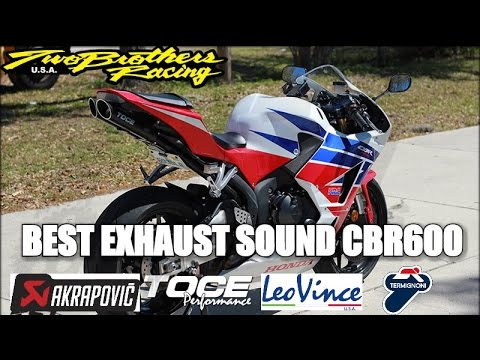 Best Exhaust Sound Compilation CBR600 RR | AKRAPOVIC | TWO BROTHERS |  YOSHIMURA | M4 | R9