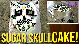 Sugar Skull Cake  Day of the Dead Special  Bake Me Happy