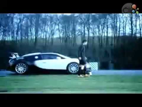 Ronaldo chạy đua với Bugatti       Clip vn