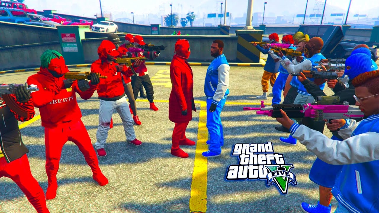 Gta 5 Online Bloods Vs Crips Who Will Win Part 2 Youtube