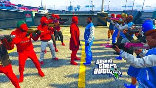 GTA 5 ONLINE - BLOODS VS CRIPS WHO WILL WIN? PART 2