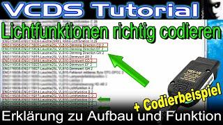 VCDS Tutorial   So codiert Ihr Lichtfunktionen richtig   Erklärung zu Aufbau und Funktion