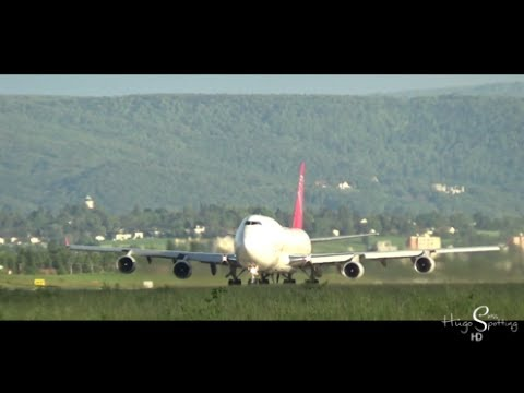 [HD] EXTREMELY RARE Air Cargo Global 747-400F takeoff at Basel-Mulhouse-Freiburg Airport