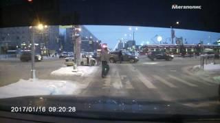 Авария Просвещения/Демьяна бедного 16.01.2017.