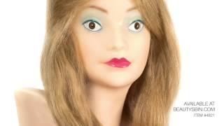 cosmetology minature mannequin head 4821
