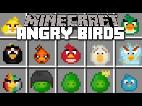 Minecraft ANGRY BIRDS MOD / WIN AGAINST THE PIGS AND USE ANGRY BIRDS!! Minecraft