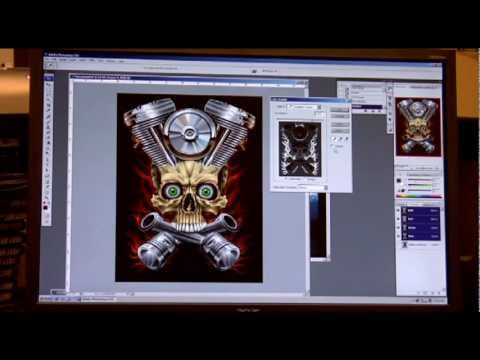 Advanced Photoshop Tutorial for Screen printers - Screen Printing 101 DVD pt 4