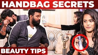 'Pee Safe' Spray Inside Miss India Bashini Fathima's Handbag | What's Inside The Handbag