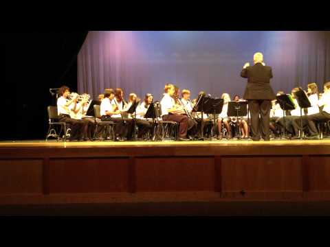 North Naples Middle school advanced Band concert,