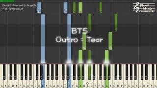 BTS (방탄소년단) - Outro : Tear Piano Tutorial 피아노 배우기