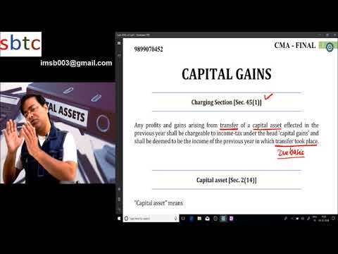 Capital Gains (Capital Asset & Gold Monetisation Scheme) for CA / CS / CMA...