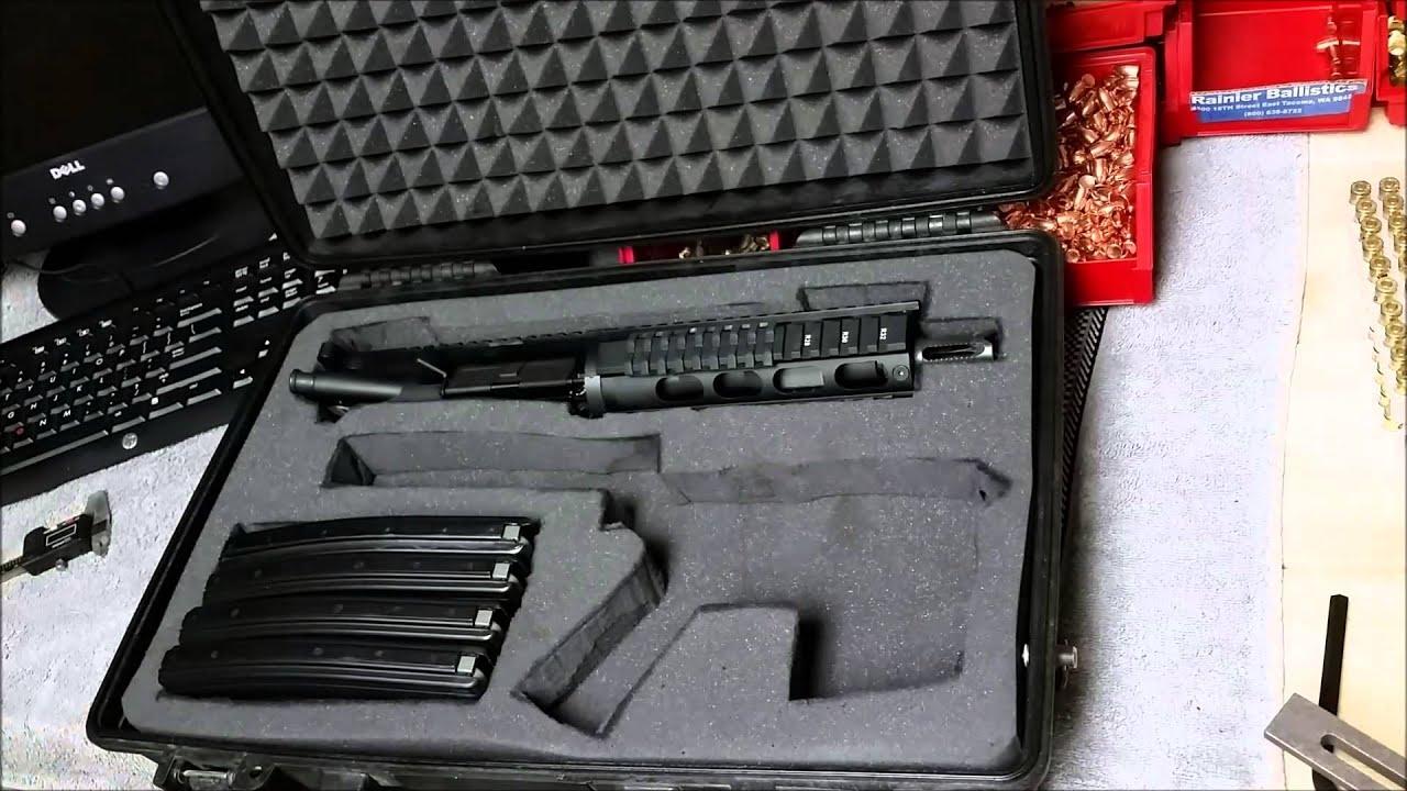 Pelican 1490 Case w/ Foam for AR15 Pistol 5.56 / 22LR - YouTube