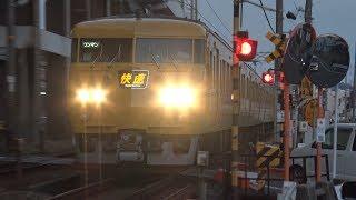 【4K】JR山陽本線 快速サンライナー117系電車 オカE-08編成