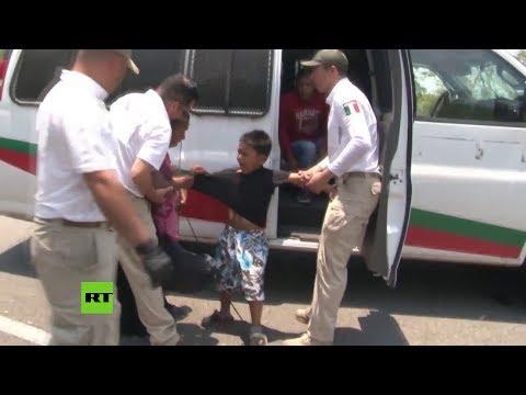 Redada a caravana de migrantes deja cientos de detenidos en México