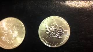 American Silver Eagle compared to Canadian Maple Leaf