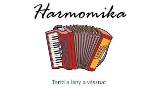 Hangszer ovi - Teríti a lány a vásznat (harmonika) / Hungarian children song (folk)