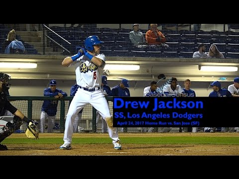 Drew Jackson, SS, Los Angeles Dodgers — April 24, 2017 Home Run