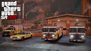 GTA 5 San Andreas Fire #1 - Broken Fire Engines