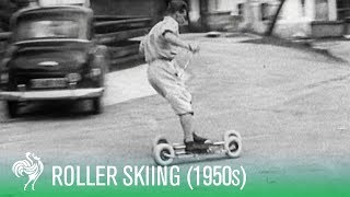 Roller Skiing - The 1950s Sports Craze!