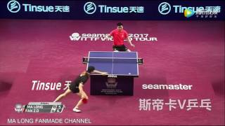 the power of backhand fan zhendong new 2017
