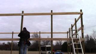 How To Build A Pole Barn - Installing Sidewall Purlins