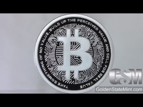 Golden State Mint - Silver Shield Bitcoin Proof MiniMintage 1 Oz Silver Round/ Silver Shield