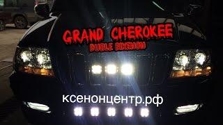 Jeep Grand Cherokee. Линзы биксенон. Двойной биксенон.(, 2015-05-06T22:23:56.000Z)