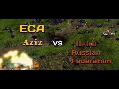 C&C Generals Zero Hour: Rise Of The Reds. - Russian Federation vs ECA - TOP REPLAY!