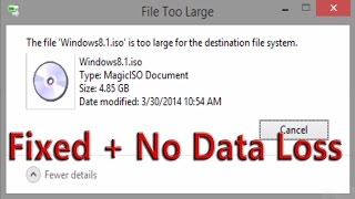 """File is too large"" SOLVED- No data loss [Narration + HD]"