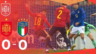 RESUMEN España luce un gran nivel en el empate frente a Italia