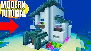 "Minecraft Tutorial: How To Make A Modern Underwater House ""2019 Easy Tutorial"""