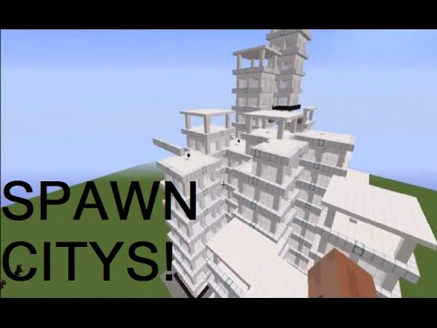 HOW TO SPAWN CITIES UUSING COMMANDS- MINECRAFT  NO MODS!
