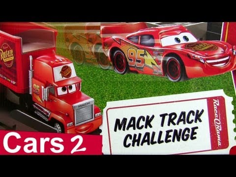cars 2 motorized mack track challenge playset youtube. Black Bedroom Furniture Sets. Home Design Ideas