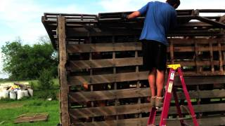 How To Build With Pallets, A Chicken Coop Made Of Free Materials Part 6