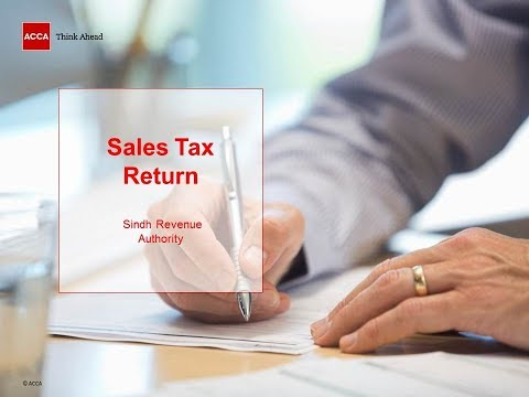 Sales Tax Return   Sindh Revenue Authority