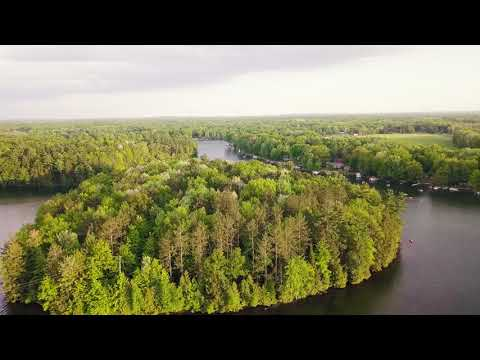 School Section Lake Mecosta MI Drone Footage