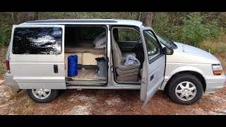 How I converted a 1995 Dodge Caravan into a Camper Van