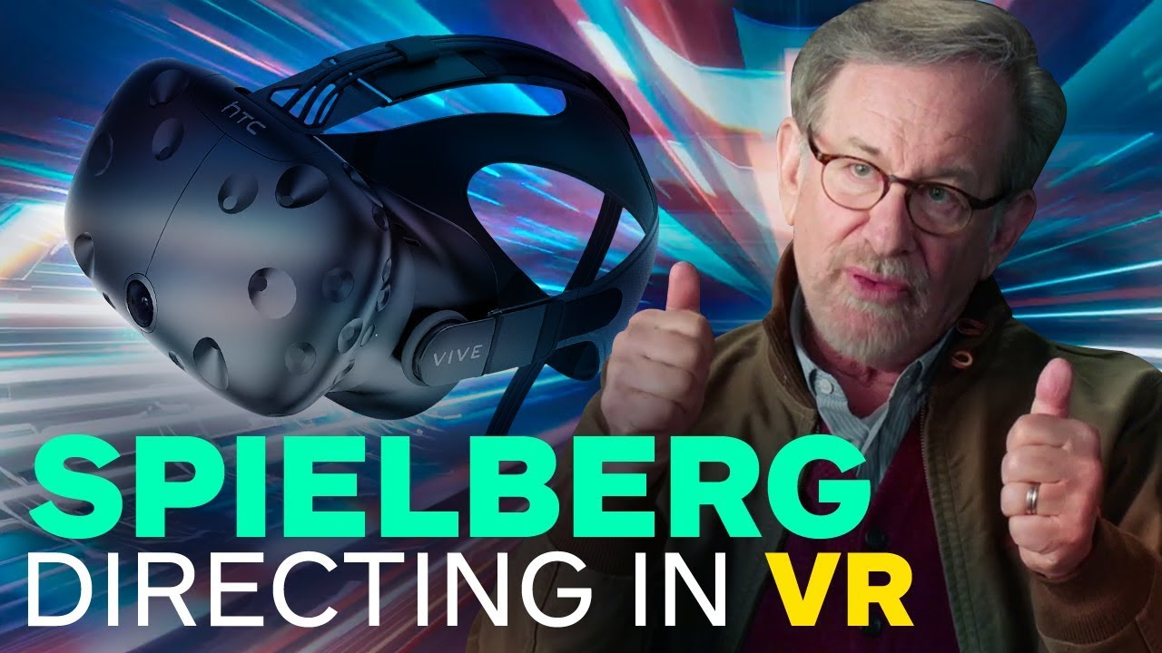 Steven Spielberg Directing Ready Player One Using a VR Headset