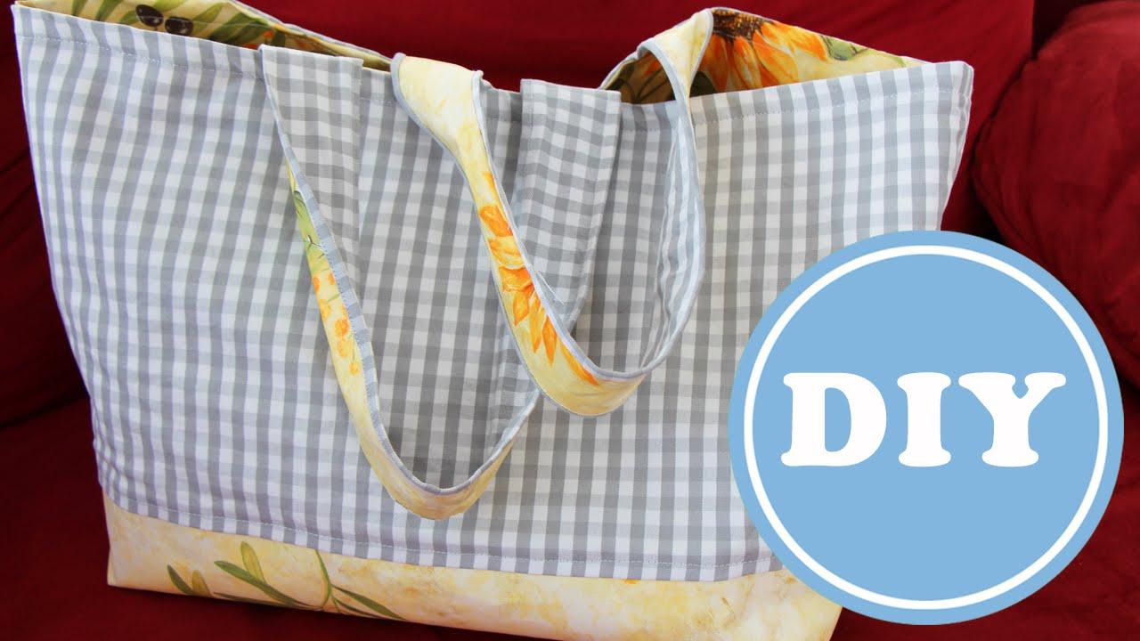 Tasche für den Markt selbst nähen | DIY | kostenloses Schnittmuster ...