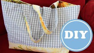 Tasche für den Markt selbst nähen | DIY | kostenloses Schnittmuster | nähen mit Wachstuch