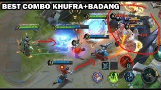 NEW HERO KHUFRA BEST TEAM COMBO WITH BADANG EPIC COMEBACK- Mobile Legends