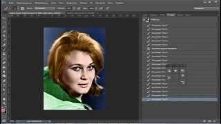 Урок Как черно белую фотографию сделать цветной в Фотошоп Уроки фотошопа
