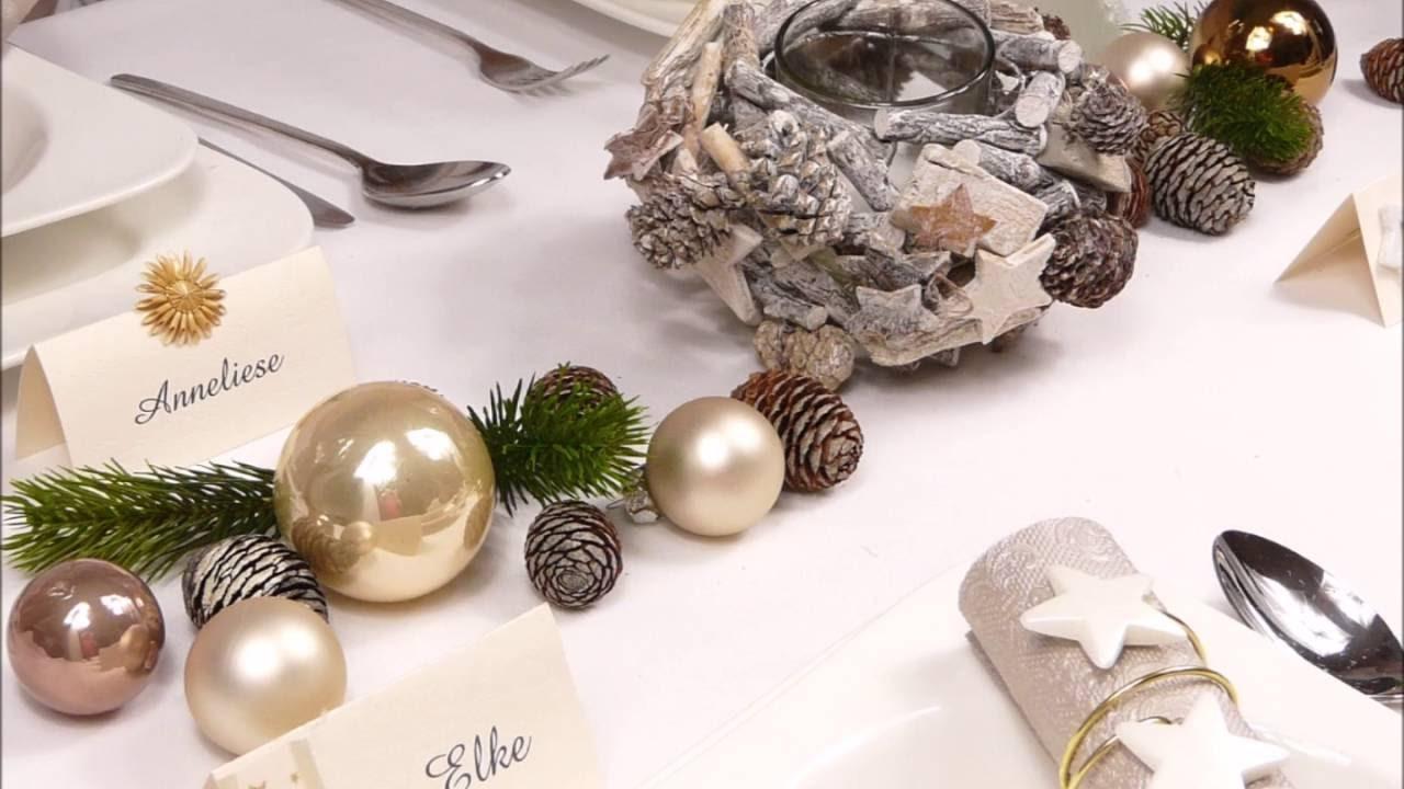 Mustertische zu Weihnachten bei Tischdekoonline de  YouTube